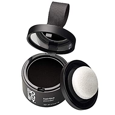 BOLDIFY Hairline Powder (Black) Instant Stain-Proof 48 Hour Formula Locks On for Full Body Hair & Beard   Root Touchup…