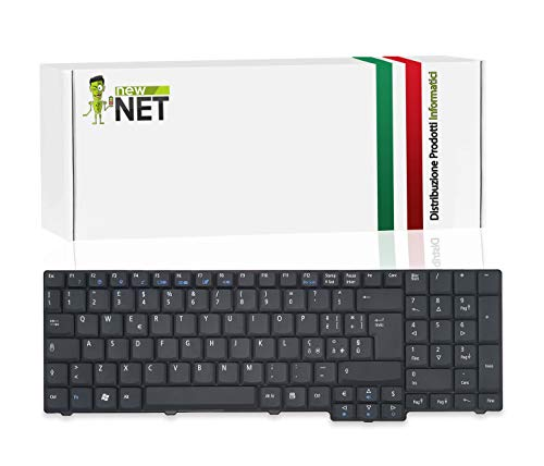 New Net Keyboards - Teclado italiano compatible con Notebook Acer Aspire 7110 7110-2369 7220 7520 7520G 7720 7720G 8530 8530G 8730 8730G 8730ZG 8735G 8735ZG 8920 8920G 8930G 9300 9300-3642