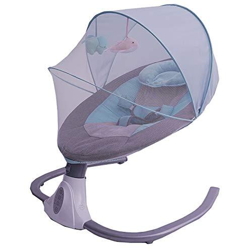 FUFU Silla mecedora eléctrica para recién nacidos, para dormir en la cuna con silla para bebé, para bebés de 0 a 24 meses, accesorio para chimenea, color azul