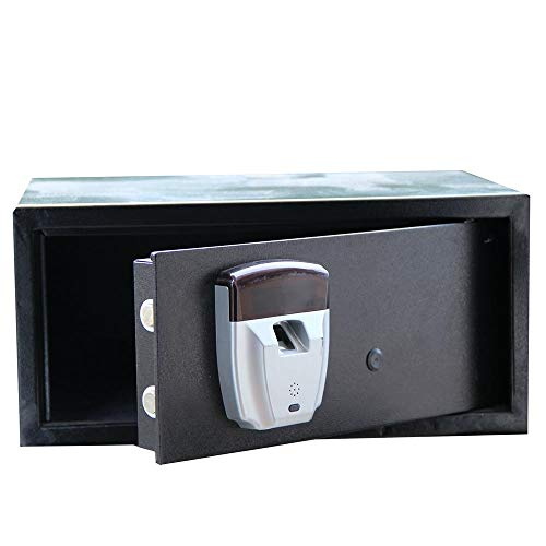 KDOAE Seguro de Acero Depósito de Caja de Almacenamiento electrónico Caja de Acero Seguro con el Teclado y la Huella Digital de desbloqueo for Ministerio del Hotel joyería para Casa
