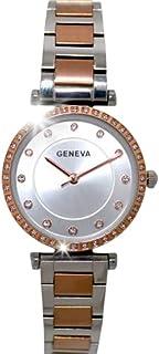 ساعة يد فاخرة للنساء, بتصميم أنيق من ماركة جينيفا الأصلية, أنالوج, ضد الماء