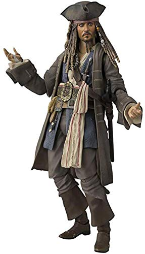 LIUXUE Piratas del Caribe Capitán Jack Sparrow Figura Modelo Estatua Juguetes 15cm