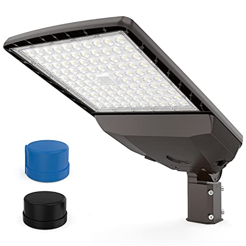 HYPERLITE LED Parking Lot Lighting 200W 30,000Lm (150lm/w) 5000K UL DLC Certified IP65 LED Parking Lot Pole Light with Dusk to Dawn Photocell Slip Fitter Included Single Installation