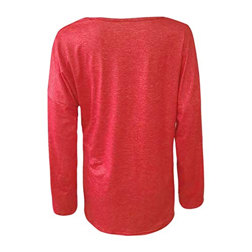 Pistaz Women's Long Sleeve Heart Prints Blouse Essentials Women's Classic-Fit Short-Sleeve V-Neck T-Shirt T Summer Letter Short Sleeve Loose Tops Inspirational Graphic Tees