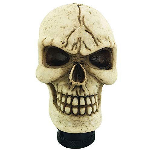 Abfer Gear Shift Knob Skull Shifting Car Handle Shifter Stick Knobs Fit Manual Automatic Transmission Cars