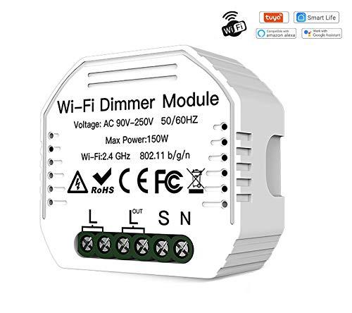 Interruptor WiFi Dimmer Switch Mini Relè Control de Luz Ajustar...