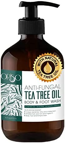 Tea Tree Oil Body Wash Antifungal Antibacterial Soap Helps Athletes Foot Toenail Fungus Ringworm product image