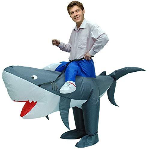 SMchwbc Cosplay Lustige Halloween Kostüm Aufblasbares Hai-Kostüm Aufblasbares Kostüm Kleidung Adult Chub Suit Air Blown Carnival Aufblasbare Kleidung (Color : Burst, Size : One Size)