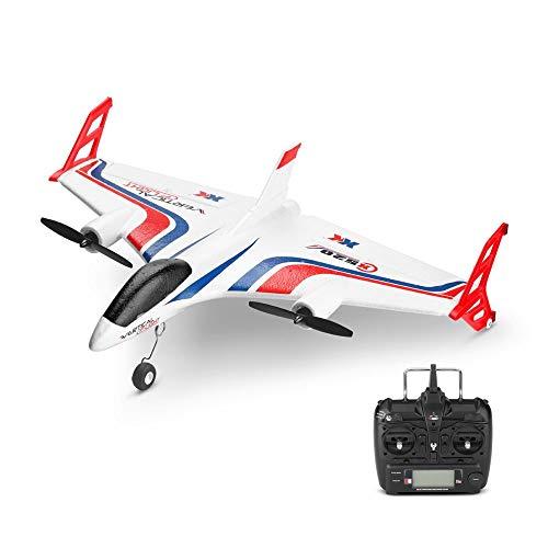 DBXMFZW 2.4G 6-Axis Gyroscopio Control remoto Aviones de 6 canales RC JET EPP Foam RC Glider Outdoor STUNT RC Airplane RC Modelo de avión con duales Motores sin escobillas Regalos para niños Principia