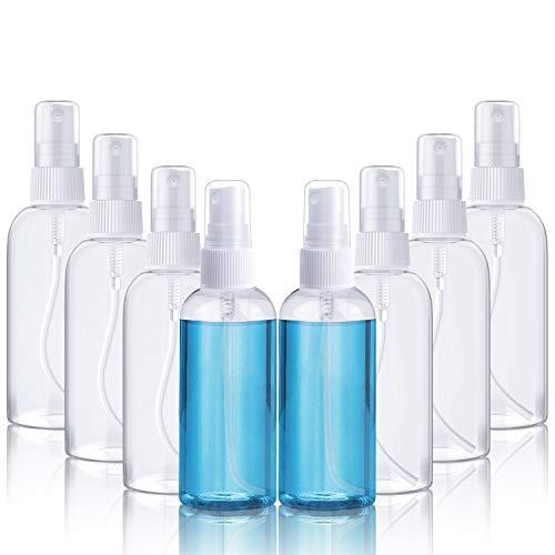 X99 Sprühflasche 100ml durchsichtig leere Zerstäuber nachfüllbar Feinen Nebel parfümzerstäuber(8pcs)