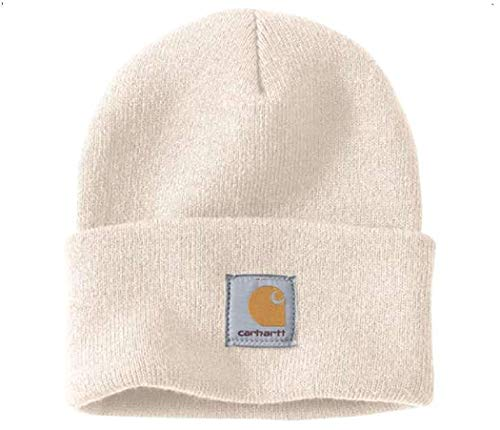 Carhartt Wintermütze für Sie und Ihn, OFA, 100% Polyacryl,elastisch, Weiß, Einheitsgröße