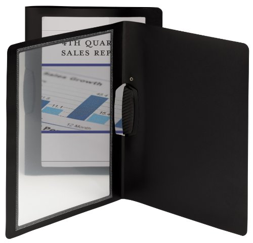 Smead Frame View Poly Report Cover with Swing Clip Side Fastener, 1/2