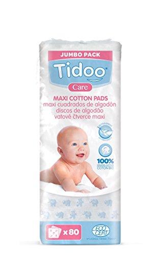 TIDOO Maxi Carrés de Coton x80 Bio -