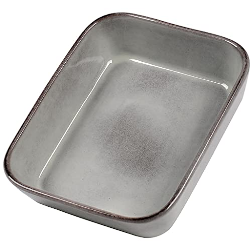 TWDYC 300 0ML Esmalte de gres Horno for Hornear Horno for Horno for lasaña for lasaña/Pastel/cazuela/Tapas, 3 5X25X7.7CM