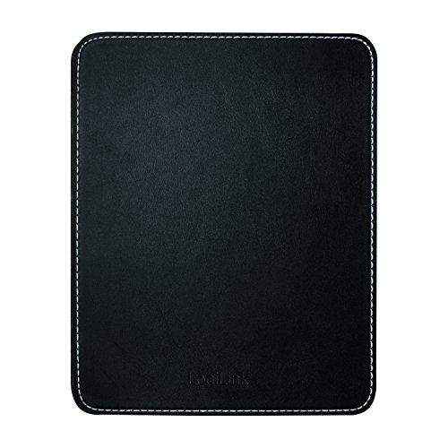 LogiLink ID0150 Mauspad im Lederdesign mit Rutschfester Gummi-Unterseite schwarz
