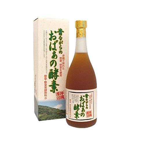 昔ながらのおばぁの酵素 720ml×1本 スクワラン本舗 沖縄のおばあの知恵 野草・野菜・果物を自然発酵させた酵素飲料