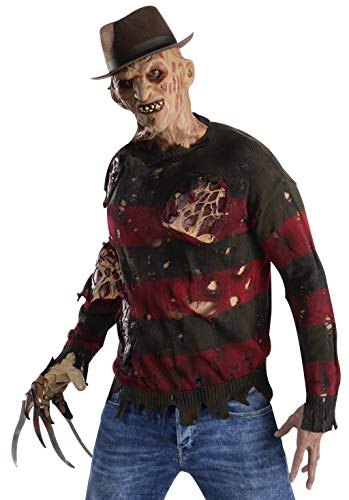 Rubie's Men's Nightmare On Elm St Adult Costume Sweater with Burning Latex Flesh, Multicolor, Standard