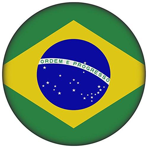 FanShirts4u Button/Badge/Pin - I Love BRASILIEN Fahne Flagge BRASIL BRAZIL (Brasilien/Flagge)