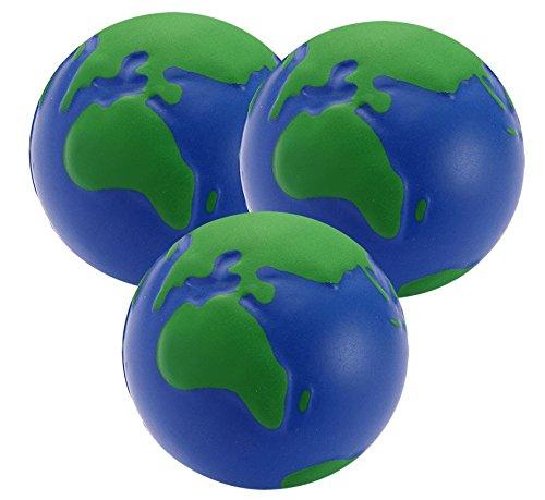 Stressballs Globus x 3 | Stress Ball, Knautschball, Antistressball, Globus Klien, Kleiner Globus