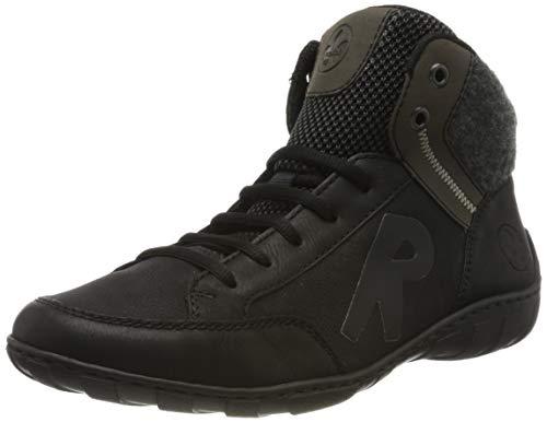Rieker Damen M3740 Hohe Sneaker, Schwarz (Schwarz/Schwarz/Graphit/Anthrazit/Schwarz 02), 40 EU