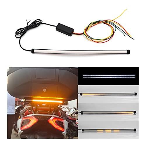 30 cm 45 cm Bici de Motocicleta Rojo/Blanco ámbar LED Luces trasqueadas fluyendo secuencial LED de Tira de luz de la Barra de Giro de la luz de la señal de la señal