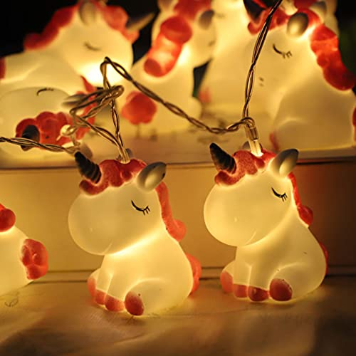Uonlytech LED Unicorn Lamp Decorative String Lights Novelty Cute decoration for Holiday Wall Window Party Garden Kids Bedroom, 2 Sets