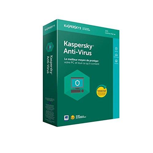 Kaspersky Antivirus 2018 | 3 Postes | 1 An | PC | Téléchargement