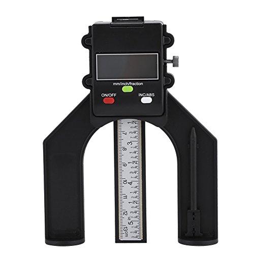 Digital Tiefenmesser Höhenmessgerät 0-80mm Profiltiefenmesser mit Ziffernanzeige und selbsthaltenden Magnetfüßen für Router Tisch Holzbearbeitung