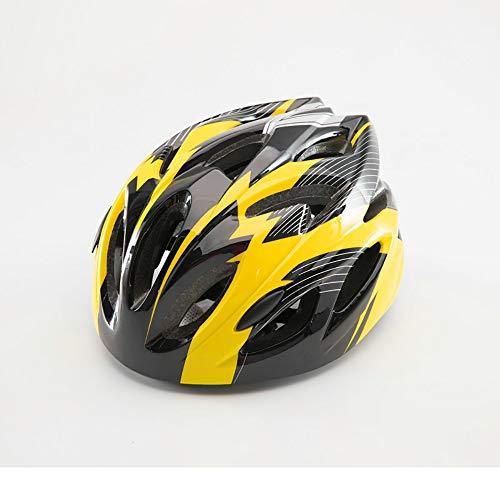 JIAGU Cascos para Bicicletas para Adultos Casco de la Bici Ajustable for niños y for jóvenes Entre Las Edades Tamaño 3-6 Duradero Kid Bicicletas Cascos (Color : Yellow, Size : S)