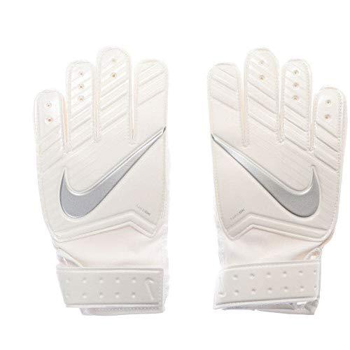 Nike Guantes de portero para niños NK g–Guantes de portero, todo el año, infantil, color White/Chrome, tamaño 3