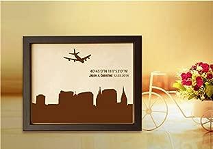 Lik299 Leather Engraved Wedding Third Anniversary Salt Lake City Longitude Latitude Personalized Gift Place Wedding Date Wedding