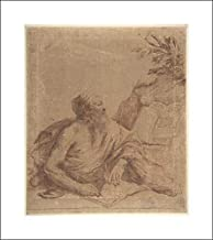 Guercino (Giovanni Francesco Barbieri) - 16x18 Art Print by Museum Prints - Saint Jerome Writing