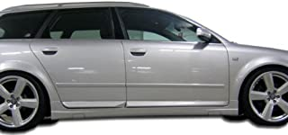 Extreme Dimensions Duraflex Replacement for 2002-2008 Audi A4 B6 B7 S4 4DR Wagon OTG Side Skirts Rocker Panels - 2 Piece