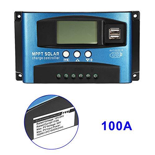 Guajave 40A-100A MPPT Solarpanel Regler Laderegler 12 V/24 V Auto Focus Tracking-Gerät, 100A