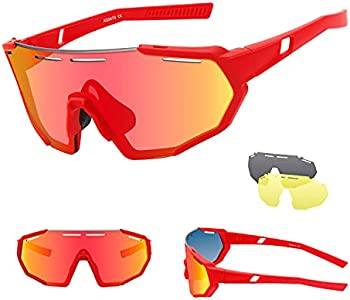 Ukoly Polarized Sports Sunglasses with 3 Interchangeable Lenses