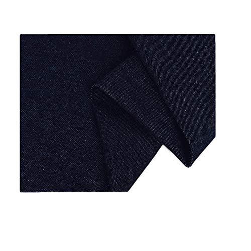 Dikke denim stof is 150 cm breed wasbare katoenen stof het maken van tassen jeans denim jasje (Color : Navy blue)