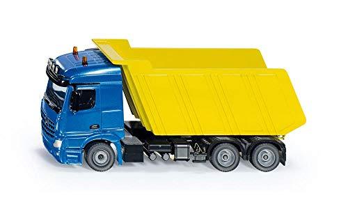 siku 3549, LKW mit Kippmulde, 1:50, Metall/Kunststoff, Blau/Gelb, Kippbare Mulde