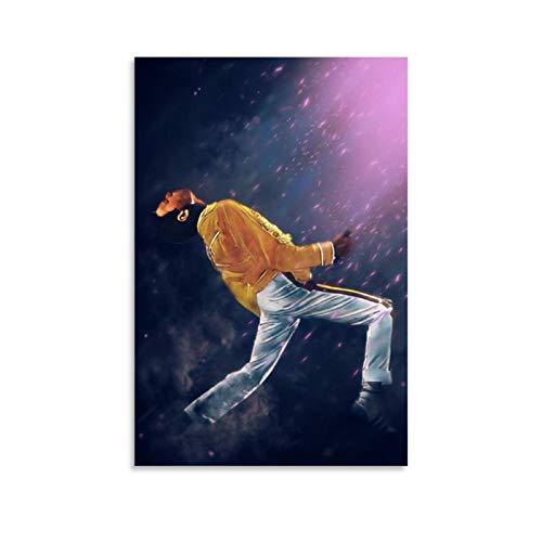WERTQ Freddie Mercury Queen, poster artistico da parete, stampa artistica da parete, decorazione moderna per la camera della famiglia, 12 x 18 pollici (30 x 45 cm)