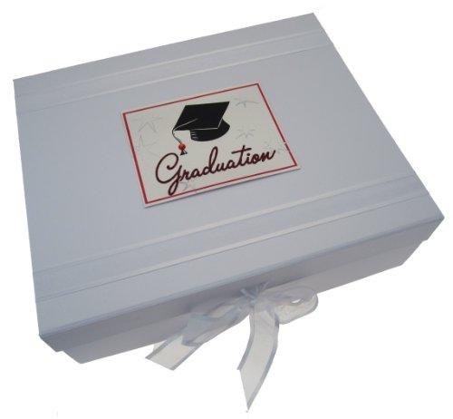 White Cotton Cards Graduation Cap Large Keepsake Box, Code GRD2X