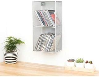 $29 Get HGmart Wall Mount DVD Storage Box Metal Mesh Organizer, 2 Tier, Silver