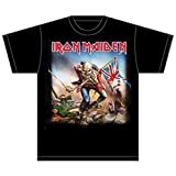 Collectors Mine - Camiseta de Iron Maiden con cuello redondo de manga corta para hombre, color negro, talla M