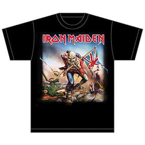 Collectors Mine - Camiseta de Iron Maiden con cuello redondo de manga corta para hombre, color negro, talla L