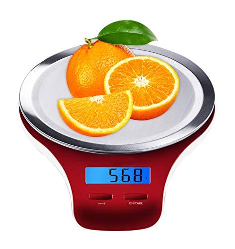 Balance de Cuisine Electronique Professionnelle, Balance numérique de cuisine de Haute Précision Ultra Mince 5kg/2g