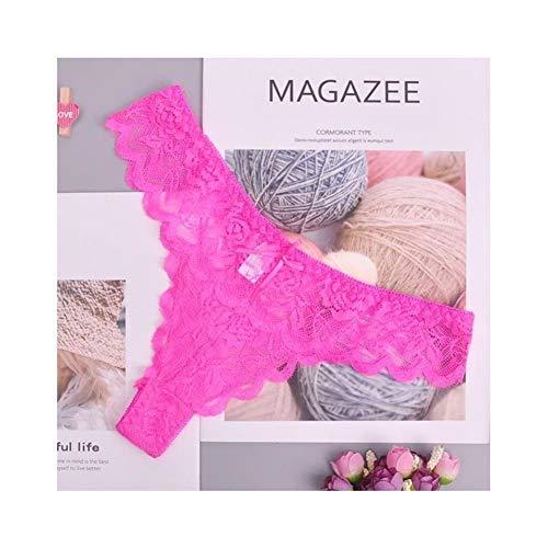 Linyuex Frauen Spitze bequem und atmungsaktiv Zapfen G-Schnur Unterwäsche-Schlüpfer Slips for Damen T-Back (Color : 87169mei, Size : Large)