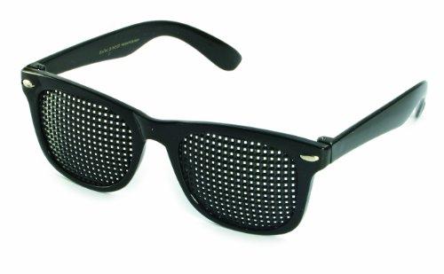 Gafas estenopeicas 415-SSP - cuadrada Rejilla - negro
