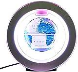 JNMDLAKO Explorar el Mundo Globo Flotante Rotación Luminosa Levitación magnética Globo Decoración de Mesa de Oficina Regalo Creativo Decoración Globo del Mundo