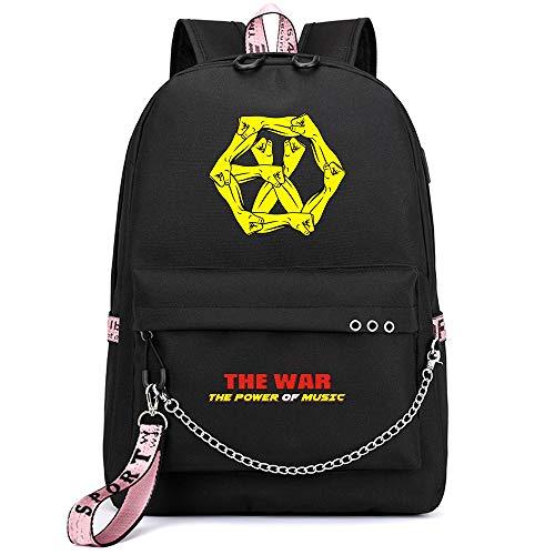 NCTCITY Kpop EXO Rucksack Student Daypack Schultasche Geschenkwaren Laptoptasche College School Bookbag Reise Schule Canvas Bags Sehun Suho Baekhyun Chanyeol Xiumin DO Kai Chen Lay