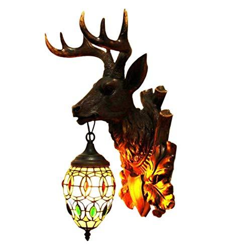 Lage prijs tafellamp bedlampje kristallen kroonluchter hanglamp plafondlamp wandlamp wandlamp, kerk glad schilderij hertenkop wandlampen, Villa Western restaurant cafe restaurant