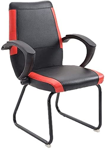 HZYDD Silla de oficina en casa, silla de juegos, pedal ergonómico reclinable manual de 5 ruedas, silla de oficina acolchada (color negro)