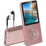 AGPTEK 新型 最大70再生時間 ロスレス音質 MP3プレーヤー 超軽量 音楽プレーヤー 内蔵容量8GB マイクロSDカードに対応 ローズゴールド A02(Bluetooth なし)